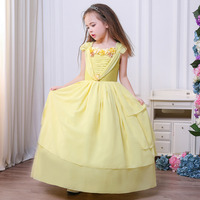 New design Belle Dresses Kids Cosplay Costume Clothing Children Cinderella Sleeping Beauty Sofia Party ball gown dress