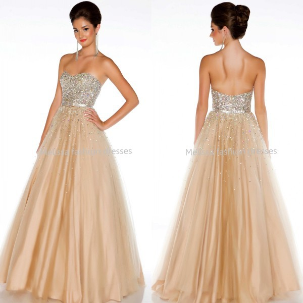 b3b1118b2e60a Get Quotations · Hot Sale Luxury Crystals Beaded Sweetheart Long Prom Gown  Backless Floor Length Tulle Ball Gown Dress