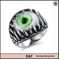 opal inlay devil eye jewelry, Devil Eye ring