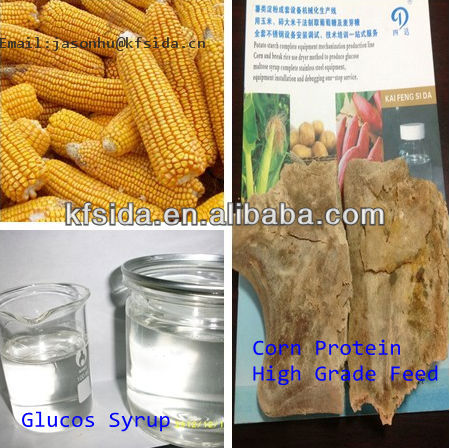 use raw yellow corn producing glucose syrup&60Ton corn glucose syrup corn sugar production line