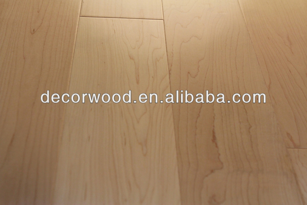 Canadian Maple Natural Prefinished Pisos De Madeira Projetado Piso Flutuante