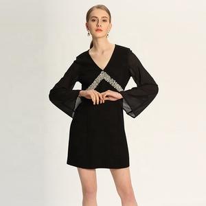 e5ccb4f97ed5 Women Black Chiffon Dress Wholesale