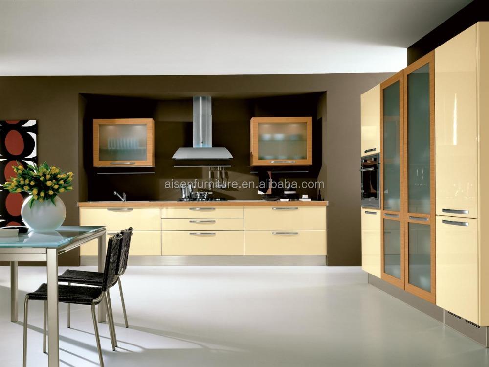 Fábrica directamente moderno simple gabinete de cocina con pared ...