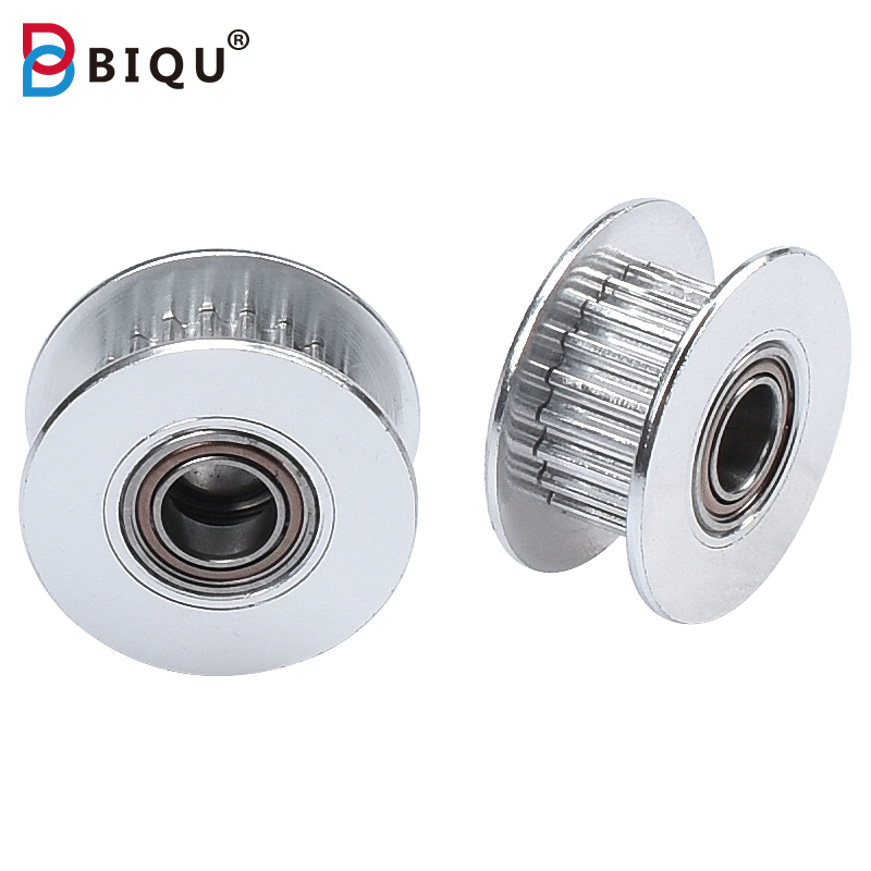 BIQU 2GT 20 Teeth With Teeth Bore 3/4/5mm H-type Synchronous Idle Pulley For GT2 Belt Width 6mm