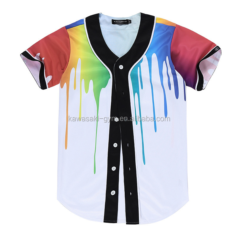 high quality dye digital printing sublimation baseball jersey