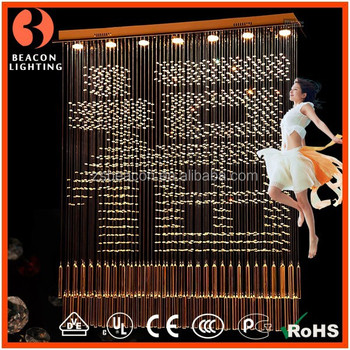 2018 customization High-end crystal pendant lights lamp lighting for hotel lobby