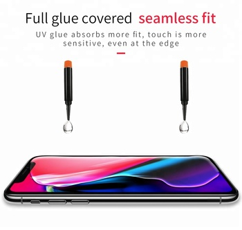 T-MAX UV Tempered Glass for iPhone X Screen Protector Shield, 3D Full Glue Edge to Edge Screen Coverage Glass