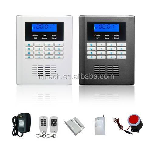 Dual Network GSM and PSTN 850/900/1800/1900Mhz with 99 zones sms talk and wireless doorbell alarm system gsm