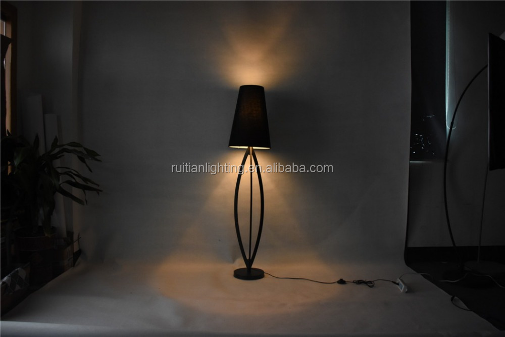 metal lighting home talbe lamp black shade simple elegant design chrome or nickle processing