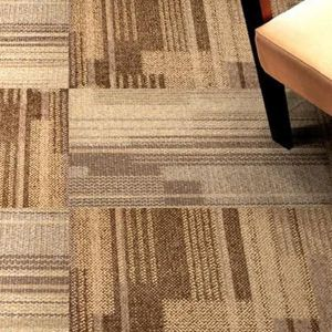 Heave Traffic Use 50x50cm PP with PVC Backing Carpet Tile