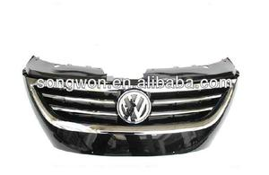 For VW Passat CC Front Grill ABS black with chrome