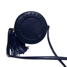 Round Women Tassel Woven Crossbody Bags Womens Shoulder Bag Ladies Cute Knitting Circular Women Messenger
