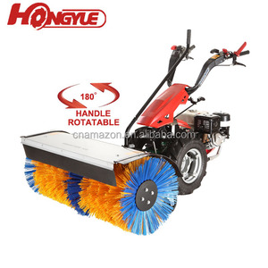 China supplier mini hand walking farm tractor with brush sweeper