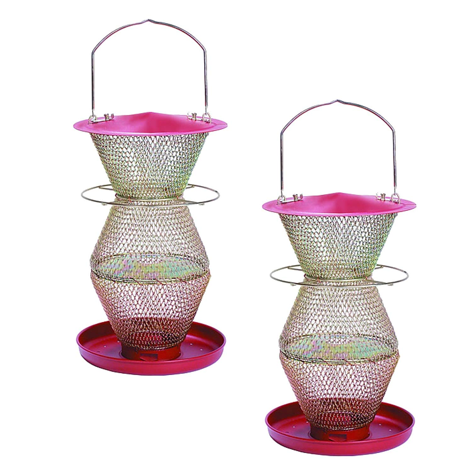 No/No RB300334 Red and Brass Standard 3 Tier Seed Feeder