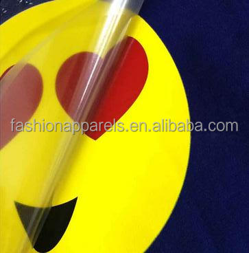 Bling Smile Sticker High Density Heat Press Transfer Design On T-shirt Fabric Plastic Feeling