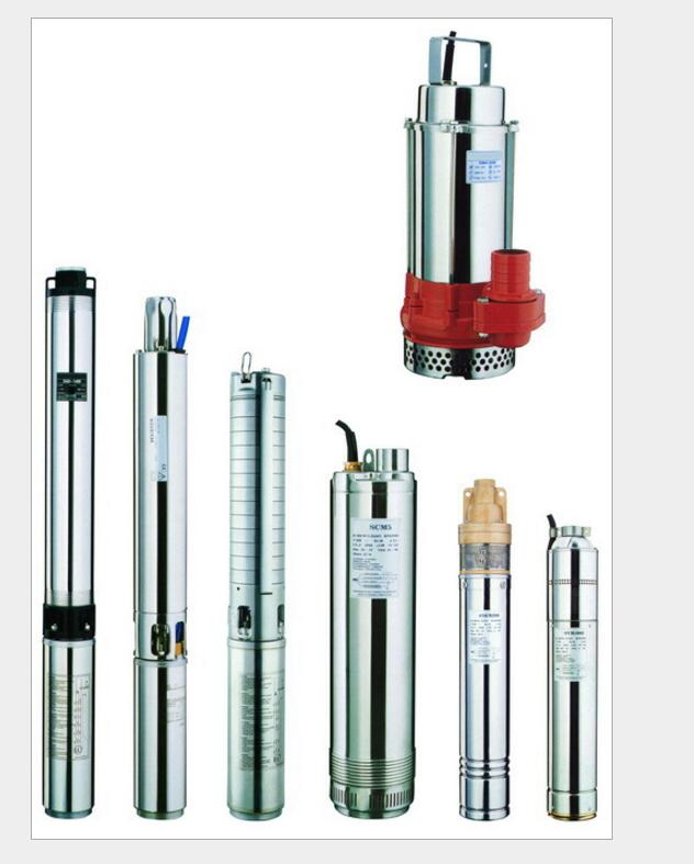 QJ deep well submersible pump with high head cast iron HT200 clear water centrifugal pump 380V/50HZ industrial