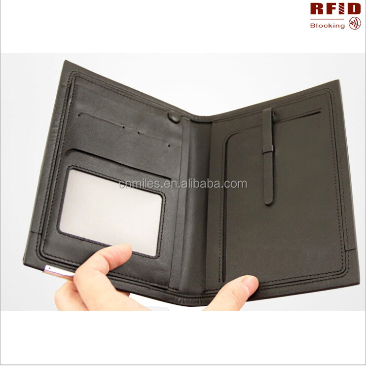 Factory Price!genuine Leather Rfid Blocking Passport Cover ...
