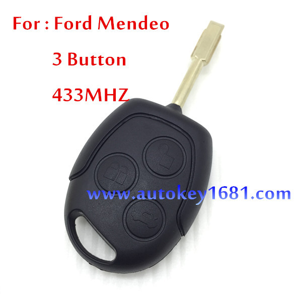 Car Key For Car Ford Mondeo 3 Button Remote Control 433MHZ With 4D60 Chip