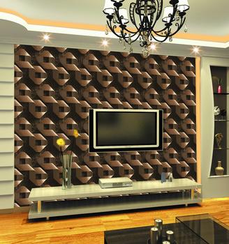 Embossed Modern 3D Textured Vinyl Coated Tv Background 3d Moving Wallpaper