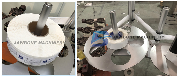 JB-LT100 automatische plastic glazen fles etikettering machine, verticale etikettering machine, ronde platte fles labeling machine