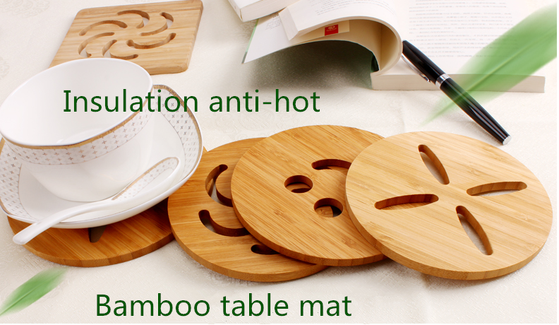 Gogo 2018 hot sale bamboo coaster of pallet cup coaster