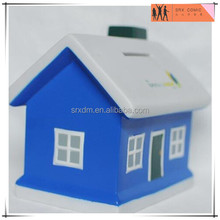 new gift painted winter house shaped saving penny bank,custom designer saving money coin bank,OEM new loose saving box factory