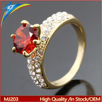Women Oval Garnet Red Crystal red CZ Ring Engagement Jewelry Diomand Ring Alloy Rhinestone Ring