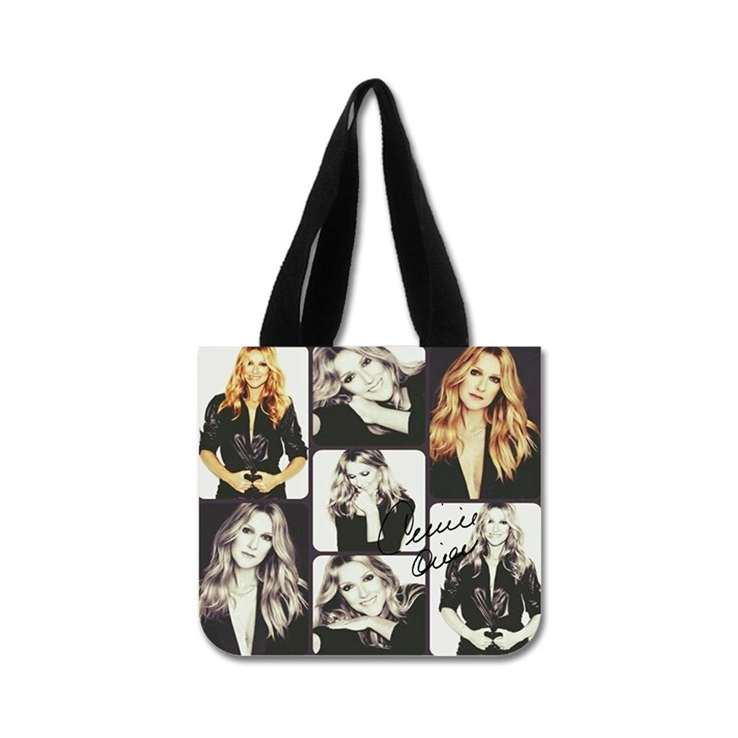 c1acc3442a Get Quotations · Honey Cotton Canvas Durable Shopping Bag Celine Dion  Collage Custom Tote Bag 02 Model (Two