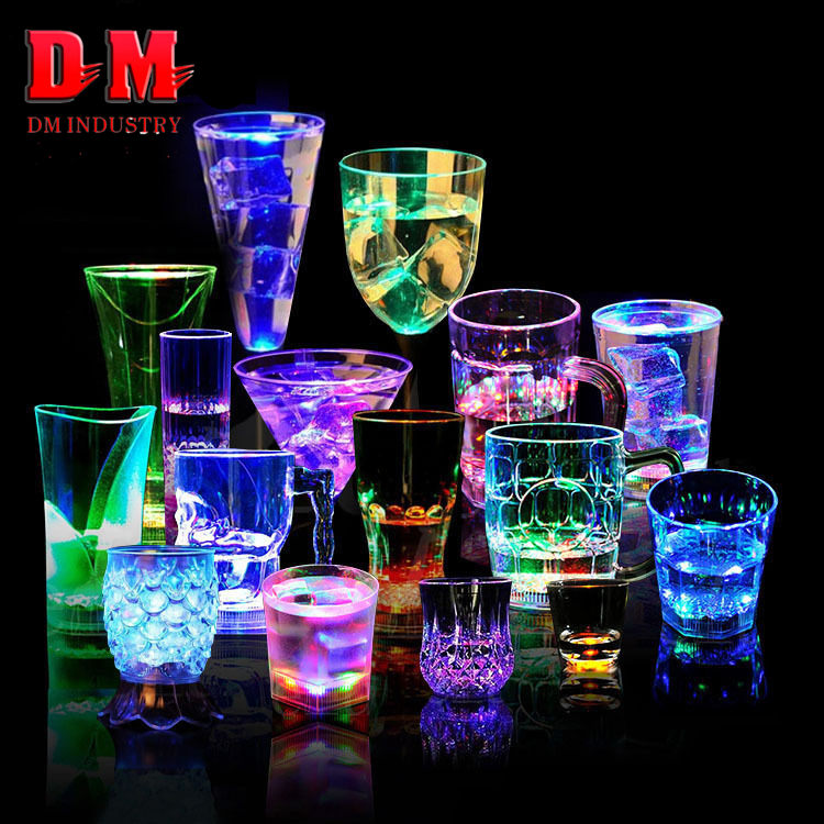 Christmas Party Decoration Best Selling Light Up Glowing Colorful Cheap Popular Plastic Flashing Led Cup