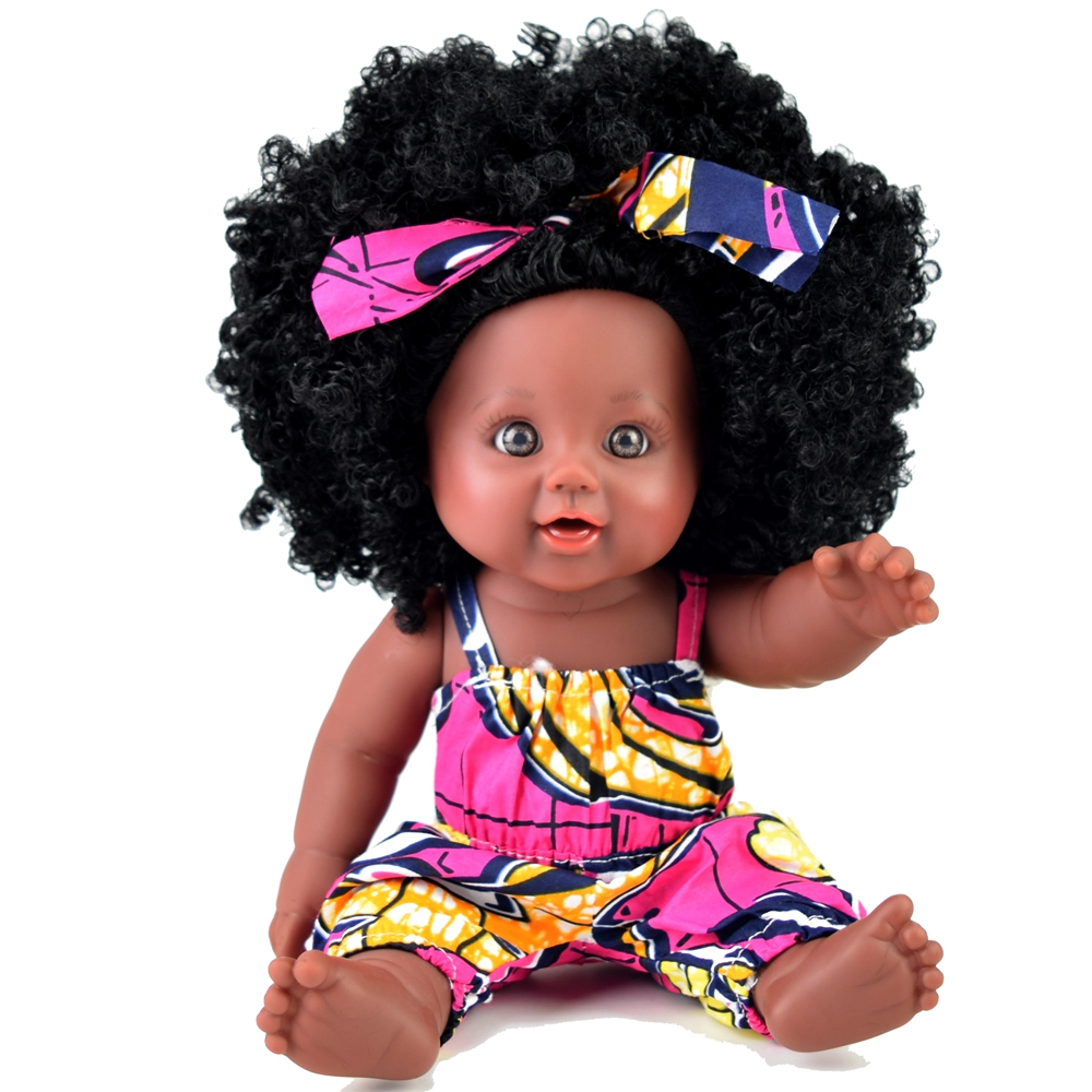 Farvision girl 12inch <strong>dolls</strong> hot sale African american black <strong>doll</strong> afro hair for kids