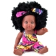 Farvision girl 12inch dolls hot sale African american black doll afro hair for kids