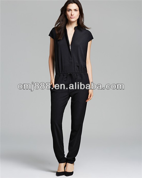 Black Color Women One Piece Formal Jumpsuit For Working Wear