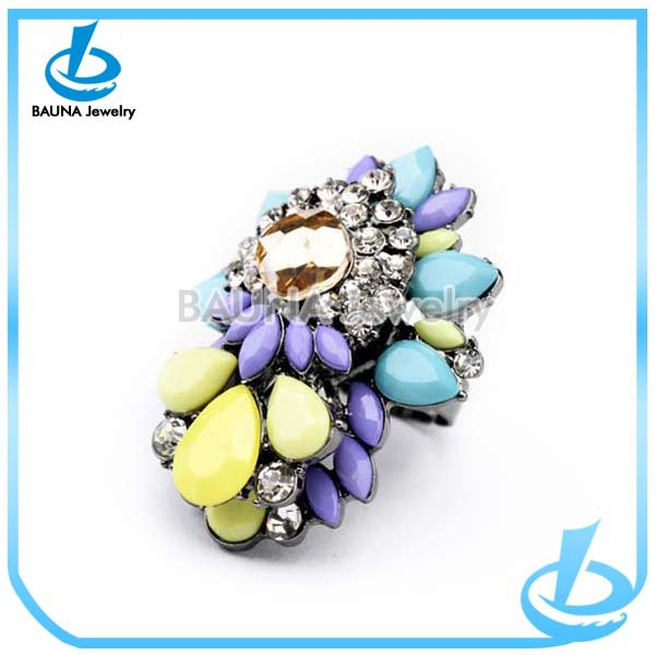 High quality colorful flower jewelry resin ring molds