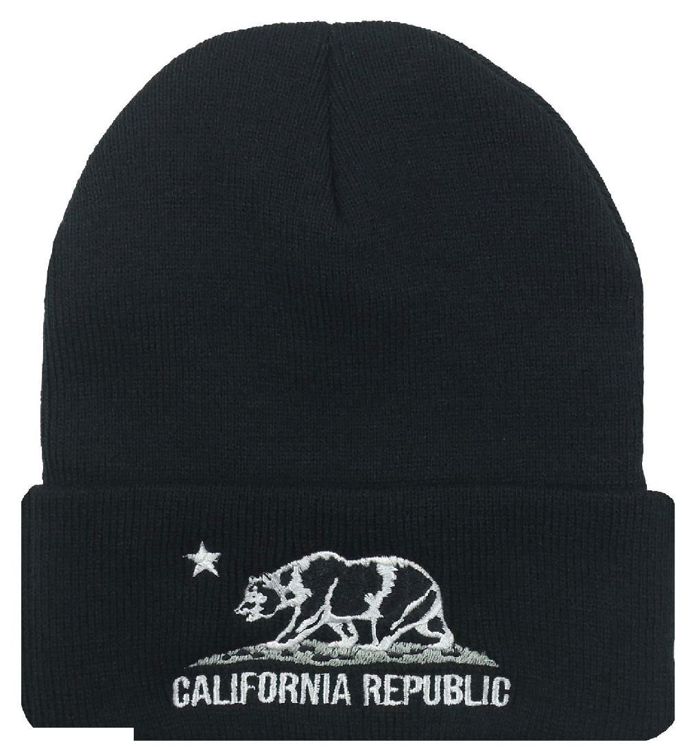 7f8c08c7836ae California Republic Cali Bear Cuffed Beanie Skull Cap Ski Hat Multiple  Colors