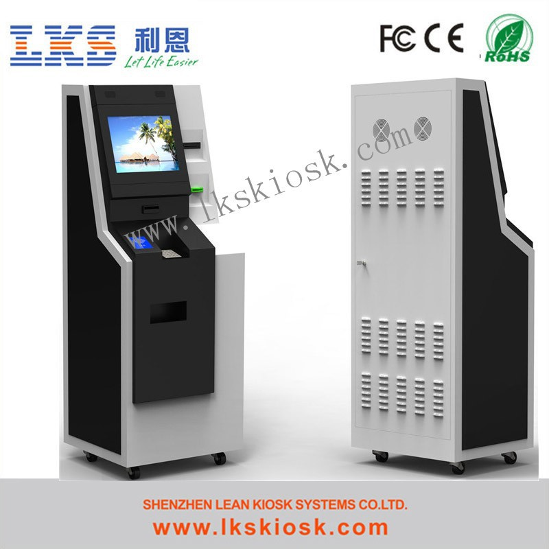 Touch Screen Atm Machine Self Payment Kiosk With Cash Dispenser