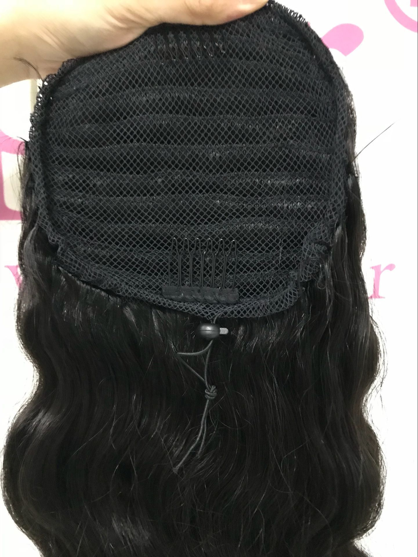 Inexpensive Virgin Brazilian Straight Human Hair Extentions Blonde Ponytail Hairpiece