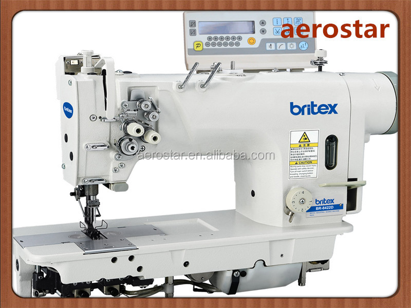 BR-8422D Electrinic High-speed Double Needle Lockstitch Industrial Sewing Machine With Direct Drive
