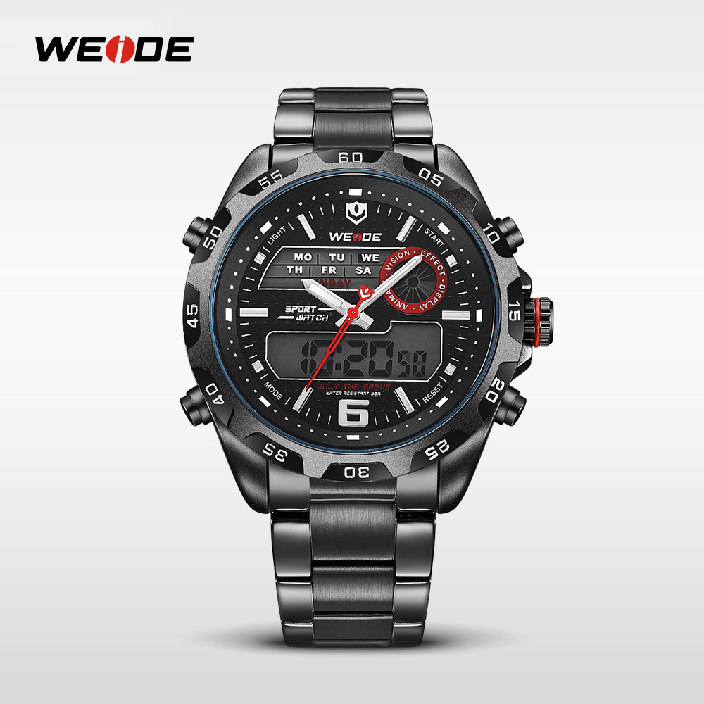 WEIDE Watches Men LCD charming fashion 3ATM Waterproof