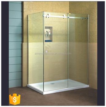 Hot Sale L Shape Bathroom 3 Panel Sliding Glass Shower Door With ...
