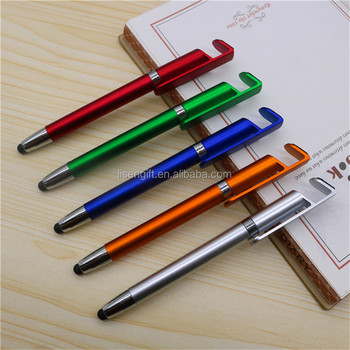 Promotional gift touch screen pen with phone stand