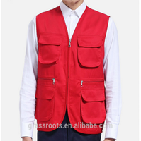 OEM Vest with many pockets Wholesale Winter sleeveless work vest for workers with four