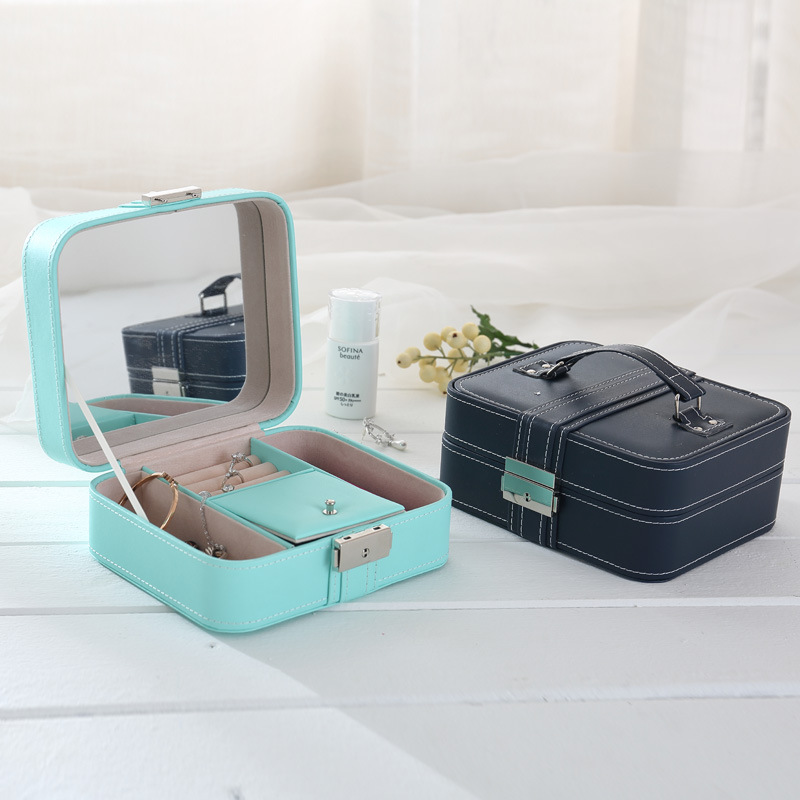 Factory wholesale jewelry box packaging Women customized jewelry box organizer Candy color eco-friendly jewelry box custom