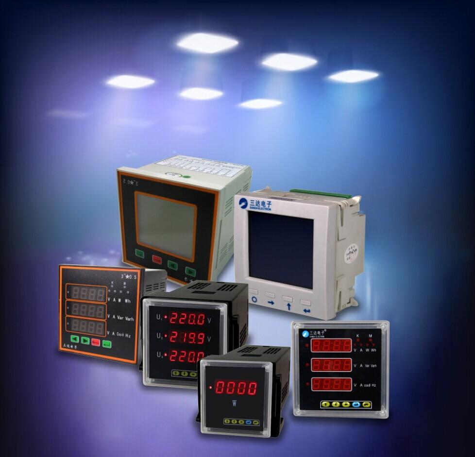 Digital Only Display 3 Phase Power Meter Ampere Measuring