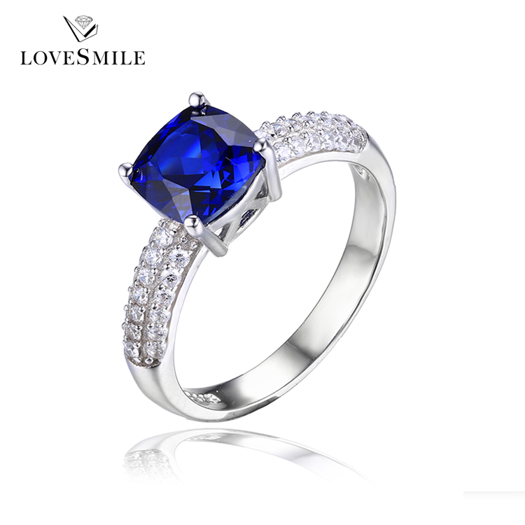 925 Silver Ring With Blue Stone Wholesale Silver Rings Suppliers
