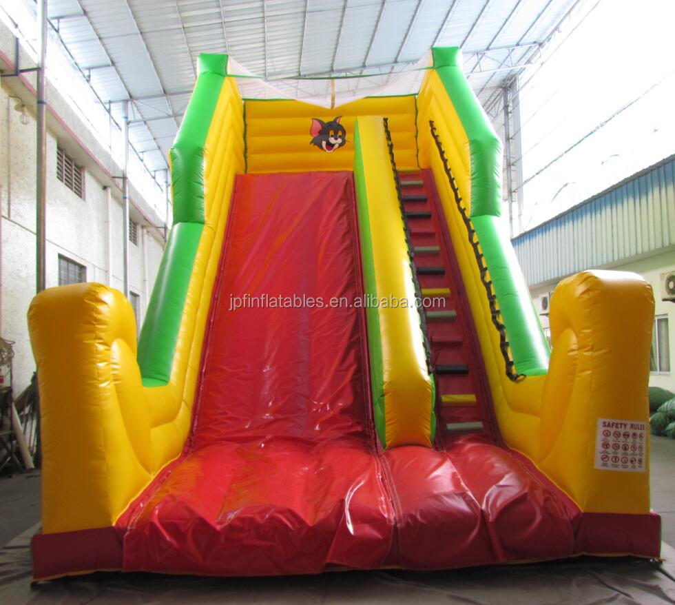 2019 wooder color inflatable dry slide with roof for sale