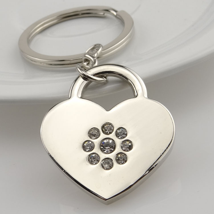 Personalized heart shaped keychains