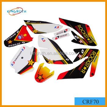 High Quality Hot Sale Pit Bike CRF70 Sticker Design Dirt Stickers