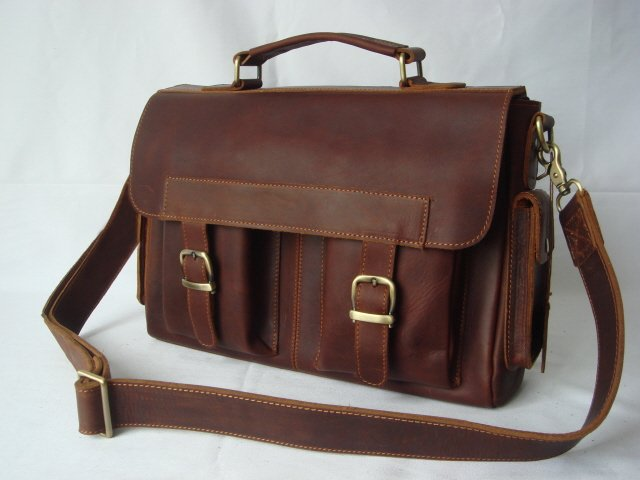 Leather Briefcase Messenger Bag Laptop Case Satchel Product On Alibaba