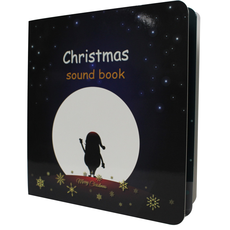 Newest Christmas Theme Talking Sound Books for Kids Educational Toys 2018