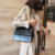 Hot sale leather vintage messenger bag alligator print women lady shoulder bag